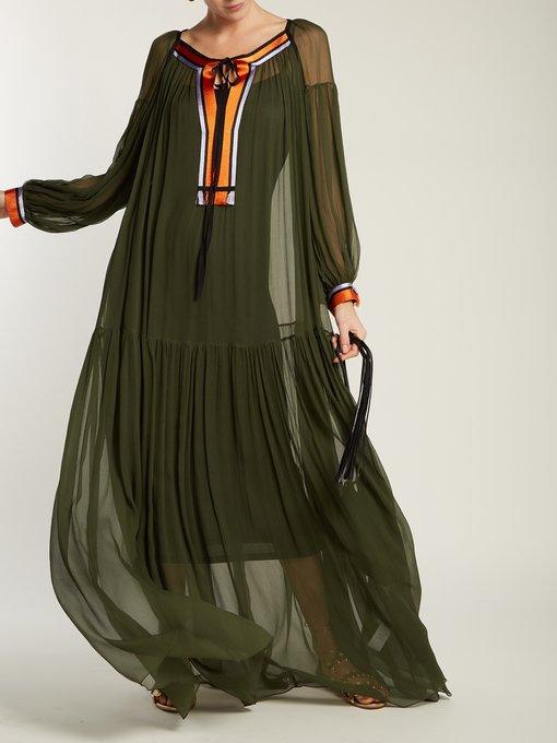 Gathered silk crepe de Chine maxi dress Amanda Wakeley 8q0kwGLCBy