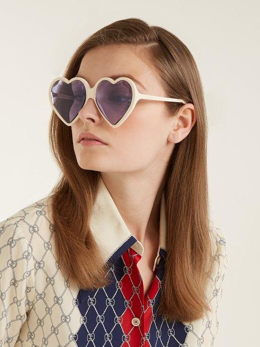 5e4127ee840a2 Gucci Heart acetate sunglasses. outfit 1201511