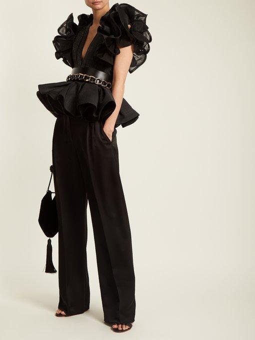 22a4db71f3 Chain-embellished leather waist belt   Balmain   MATCHESFASHION.COM JP