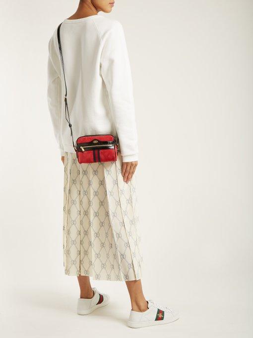 dd45f15de Gucci Ophidia Mini Suede Cross-Body Bag In Blue   ModeSens