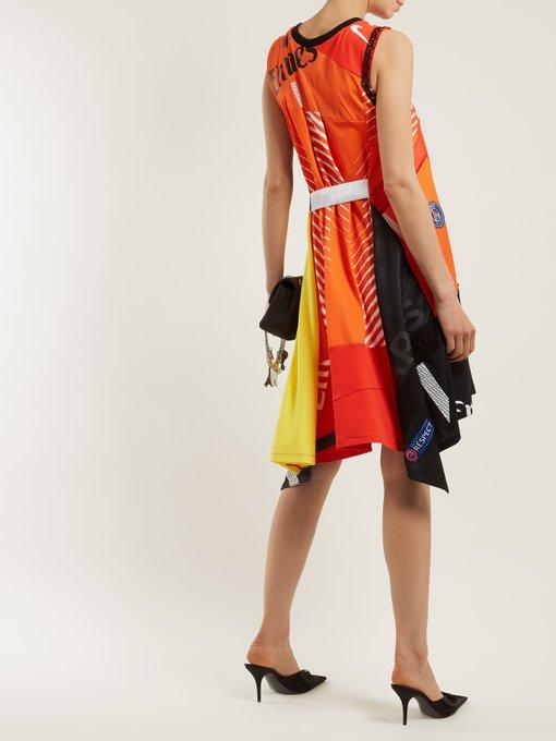 X Paris Saint Germain Patchwork Dress Koche Matchesfashion Au