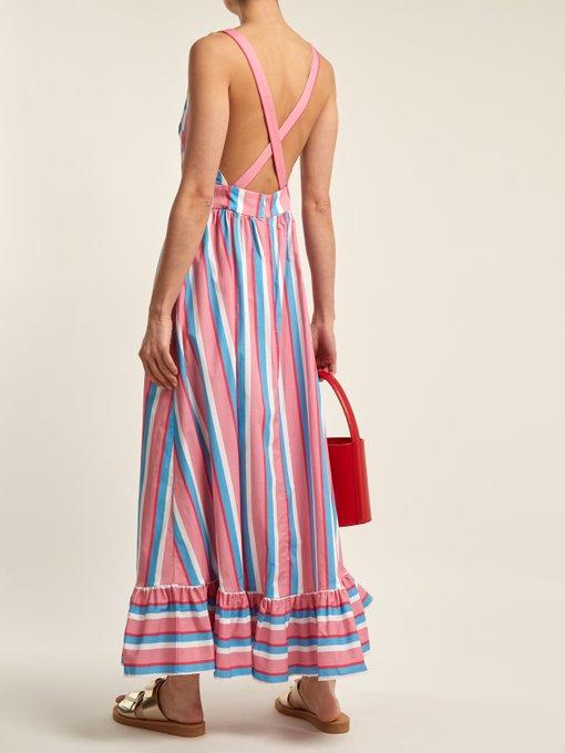 Eunice striped cotton-blend dress Staud pRAS1rb