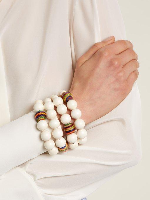 Rosantica Arlecchino multi-strand tassel bracelet 0pQTQpp1x