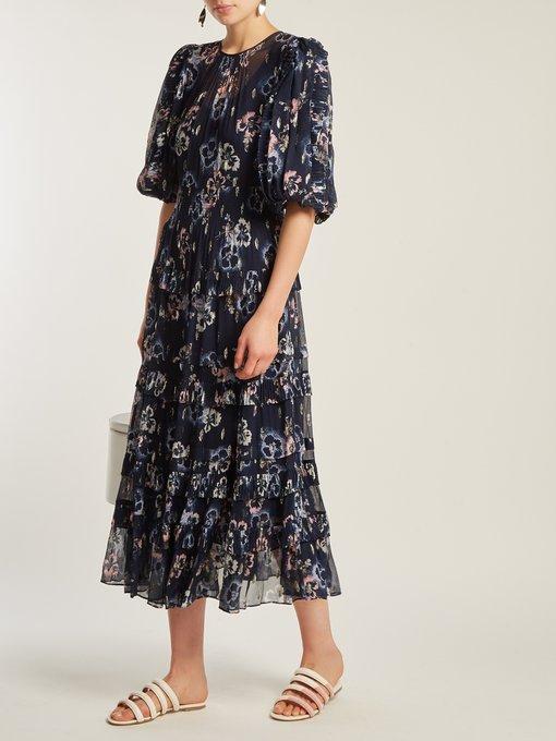 47018a7a7 Floral-print crepe midi dress | Rebecca Taylor | MATCHESFASHION.COM AU