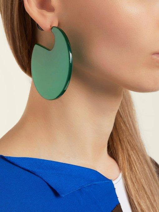 Marni Circle-hoop round post-back earrings F3aTPF