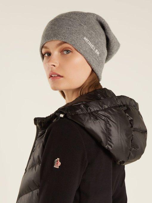 9d084fa5cc0 Moncler Logo cashmere beanie hat. outfit 1209325