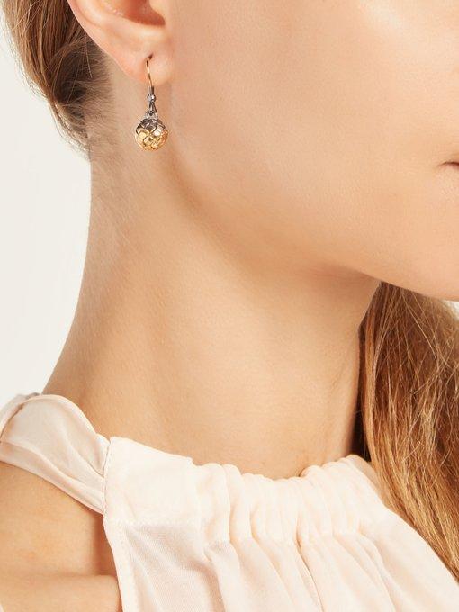 Bottega Veneta Intrecciato drop earrings cb5Im