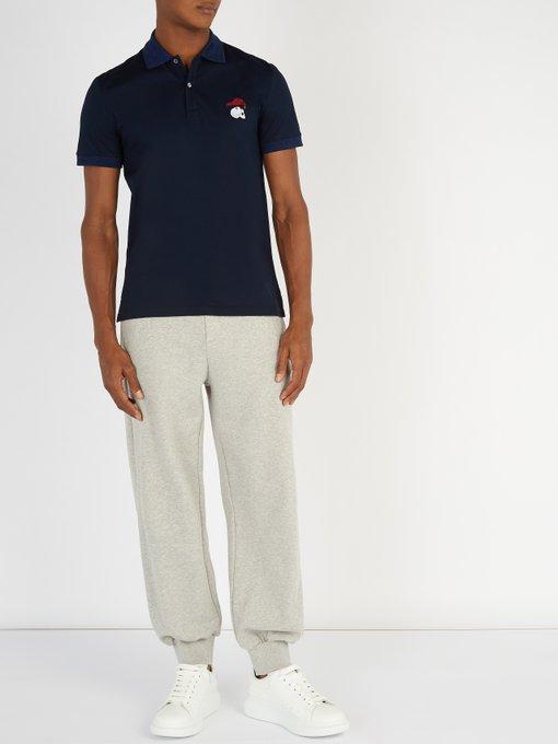 ALEXANDER MCQUEEN Cottons Logo-embroidered cotton-piqué polo shirt
