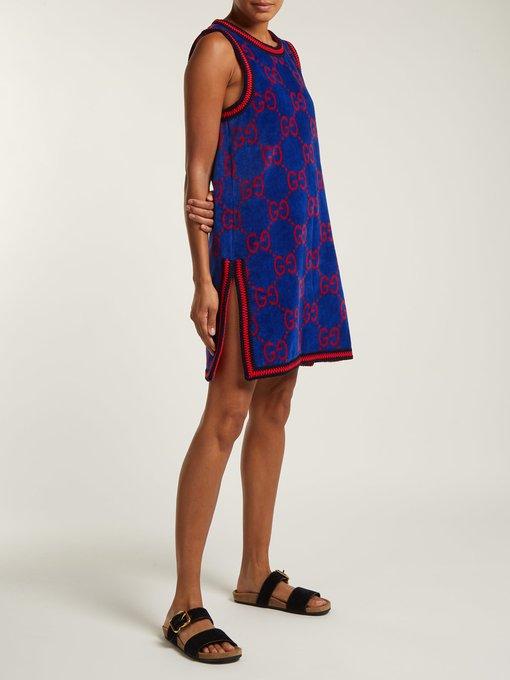 80badc20ffa GG-jacquard cotton-towelling dress | Gucci | MATCHESFASHION.COM UK