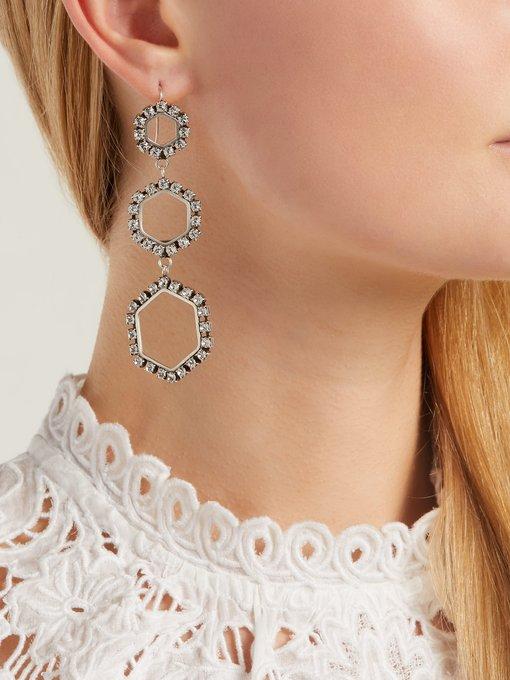 Isabel Marant Crystal-embellished earrings gzWXo