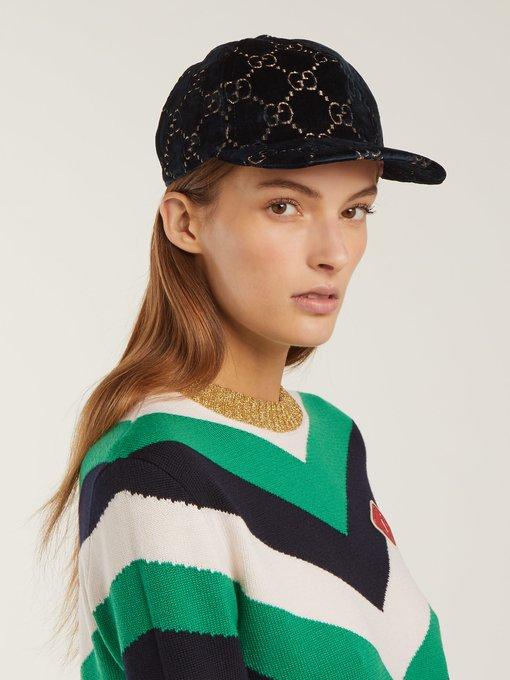 52237e9e7a4 Gucci GG velvet baseball cap. outfit 1215080