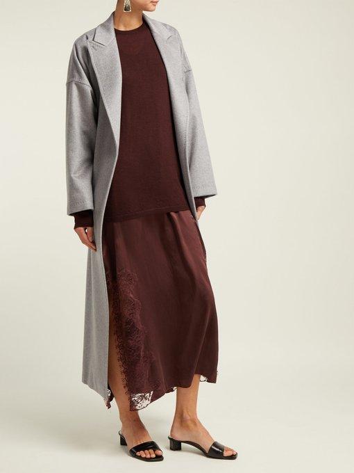Art Violet silk maxi dress ICONS LsMOU