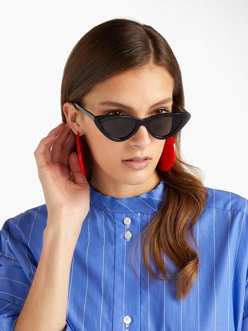 2557bca0f7 Le Specs The Last Lolita cat-eye sunglasses. outfit 1217205