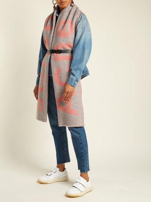 Toronto large bi-colour wool scarf Acne Studios KIUdVAWr