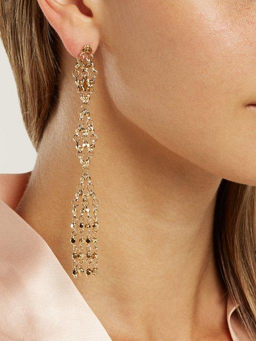 Surreal diamond-shaped drop earrings Rosantica KIKcKD