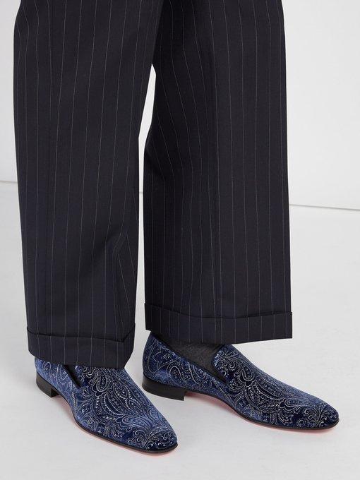 268b92505f7 Dandelion velvet loafers   Christian Louboutin   MATCHESFASHION.COM AU