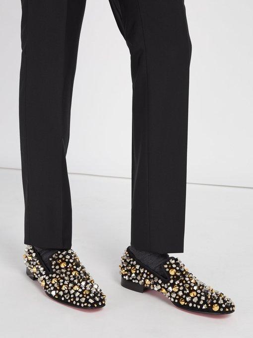 0f0e490e57da Christian Louboutin Dandelion Spikes suede loafers. outfit 1222637