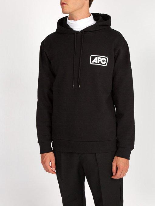 A.P.C. Cottons Jean logo-print hooded cotton sweatshirt