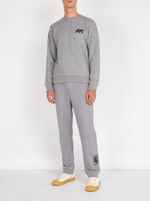 A.P.C. Cottons Jacques logo cotton-jersey sweatshirt