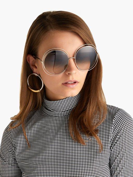 66c1221d2acc8 Chloé Carlina round-frame sunglasses. outfit 1224379