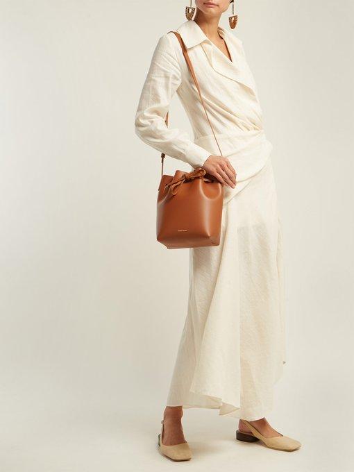 Mini Leather Bucket Bag Mansur Gavriel Matchesfashion Uk
