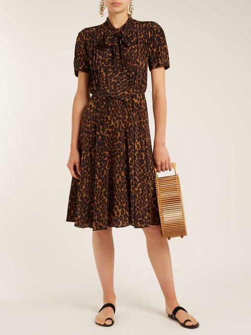 Delon leopard-print silk midi dress Masscob gejLR3