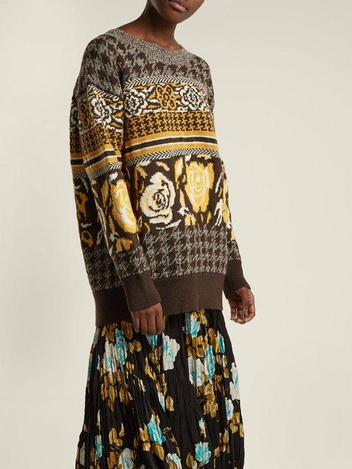 1230667 Jacquard Wool Watanabe Blend Knit Junya Sweater Outfit Pfq0wtv5xv