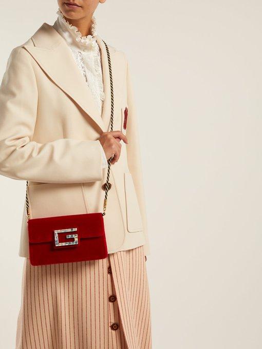 ead46fcd126a Broadway crystal-G velvet cross-body bag   Gucci   MATCHESFASHION.COM AU
