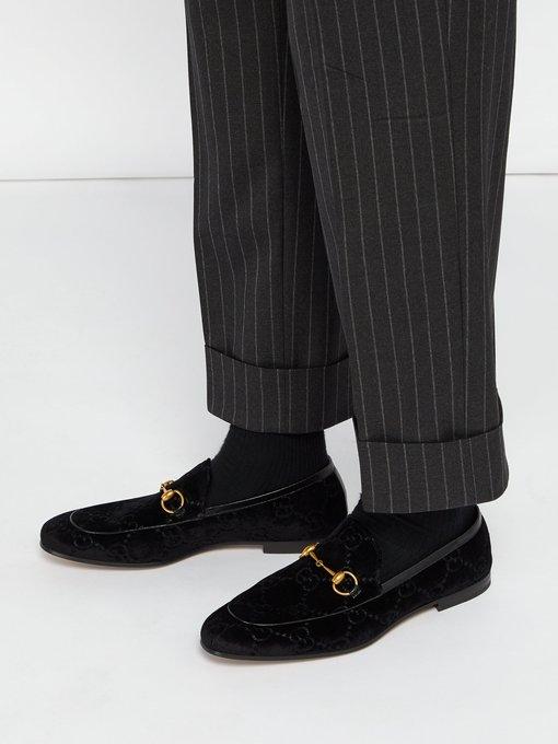 ad2efcc3de4 Gucci Jordaan velvet loafers. outfit 1233391