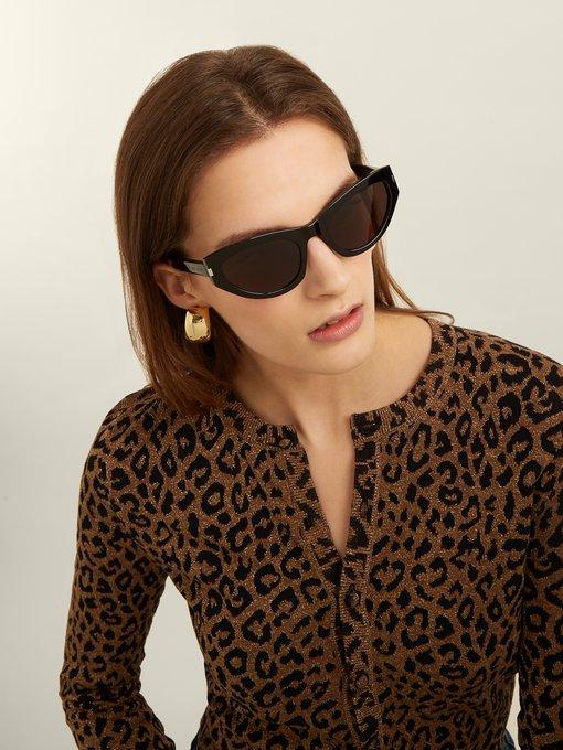 8150f96dda9 Saint Laurent Grace acetate sunglasses. outfit 1234325