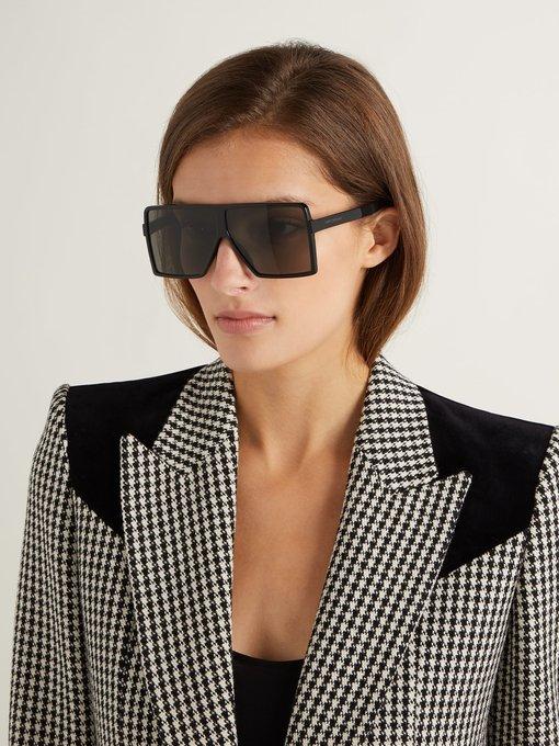 1f4cb2be946 Saint Laurent Betty flat-top acetate sunglasses. outfit 1236199
