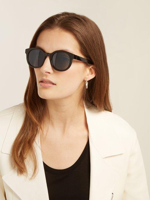 Monogram Frame Round Acetate SunglassesSaint Laurent HEWD29I