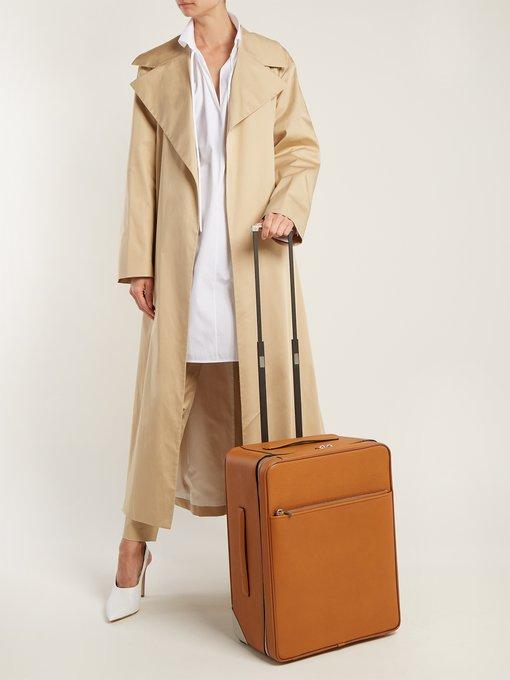 Pantalon ajusté taille haute en coton VivienneThe Row Livraison Gratuite Images Footlocker 4vtkh1ZR8