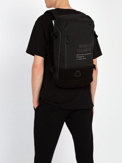 bcc981528 Fragment Hiroshi Fujiwara canvas backpack