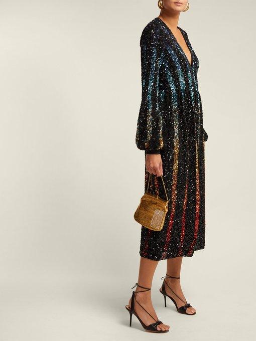Saloni 'Camille' Raindow Sequin Dress