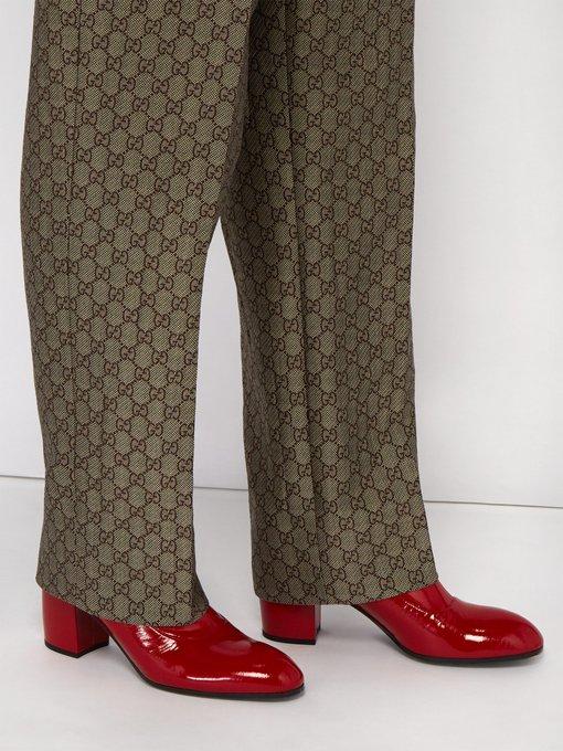 528d6e93f05 Pryntil patent-leather boots | Gucci | MATCHESFASHION.COM UK
