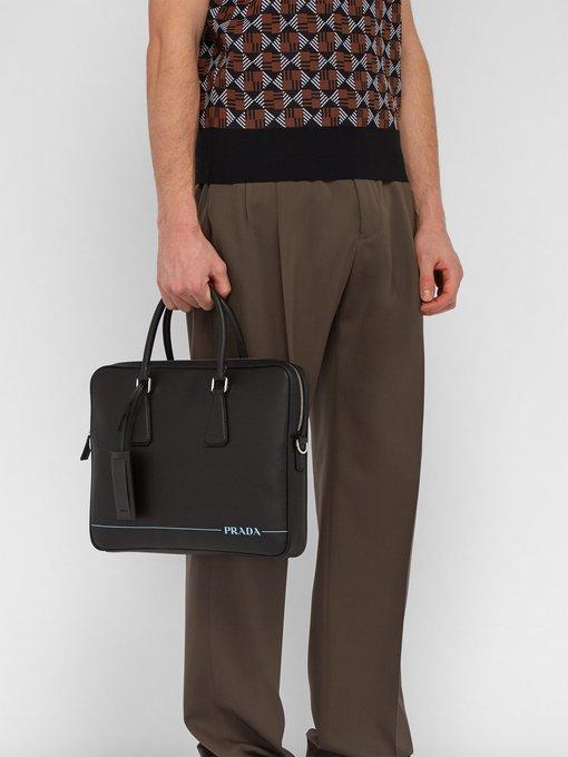 Prada Saffiano leather briefcase. outfit 1239379 44fffd2c51e6c