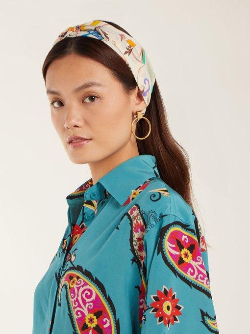 97f2efd526f Etro Floral-print silk headband. outfit 1240631