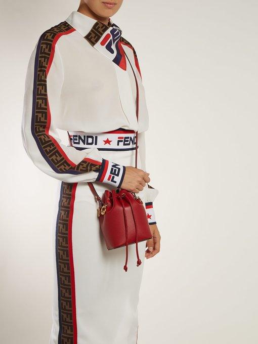 3436e502274c Fendi Mon Tresor mini leather bucket bag. outfit 1242652