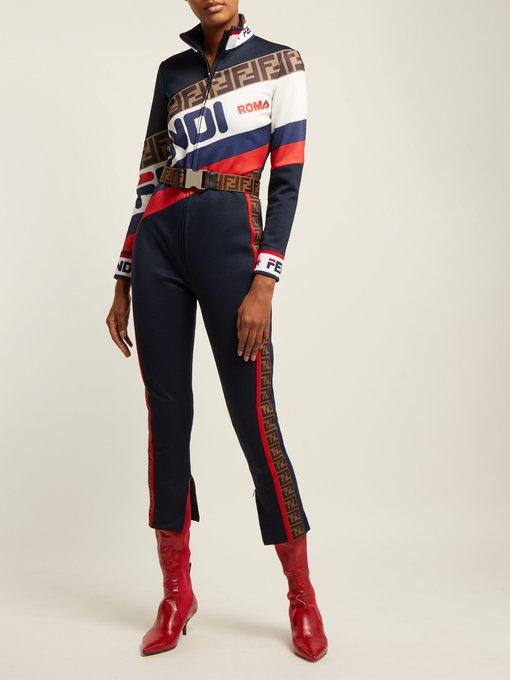 984a14e04c4 Fendi Mania logo piqué jersey jumpsuit. outfit 1243738