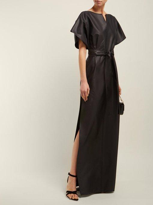 Soie MélangéeGivenchy Soirée Robe De En Faille Kimono wnO8kX0P