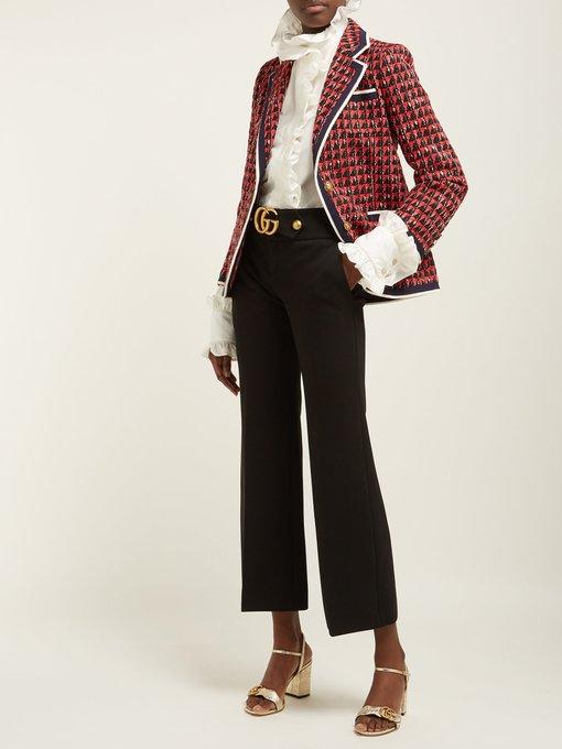 4084bb13ee0 Single-breasted geometric-tweed jacket | Gucci | MATCHESFASHION.COM JP