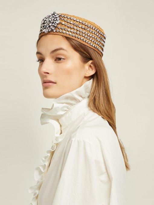 85810af061ca2 Gucci Papier crystal gahfiya hat. outfit 1247036