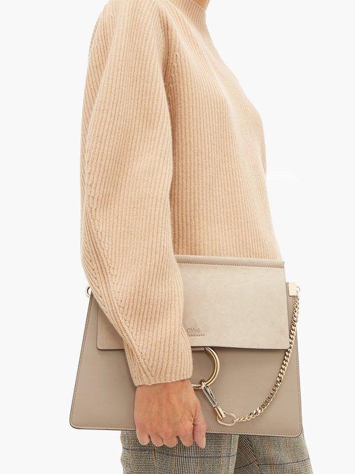 5a98e68a3b Faye medium leather and suede shoulder bag | Chloé | MATCHESFASHION ...