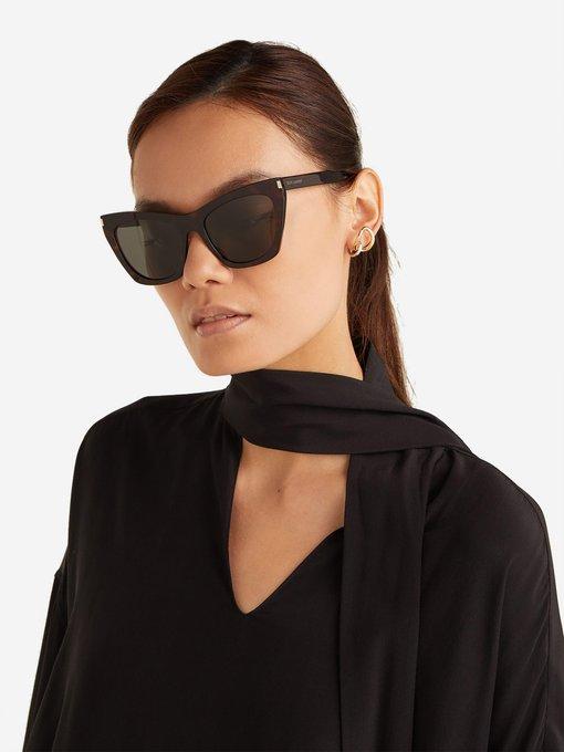 33d17f36e063c Saint Laurent Kate cat-eye acetate sunglasses. outfit 1248118