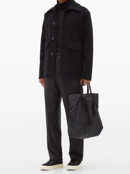 WANT Les Essentiels Mens Dayton Shopper Tote Black Eco Nylon//Black One Size