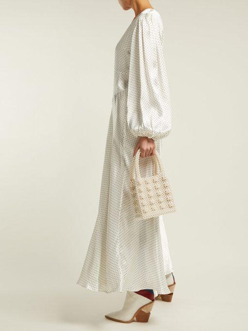 7d2e1d5f Cameron polka-dot satin midi dress   Ganni   MATCHESFASHION.COM UK