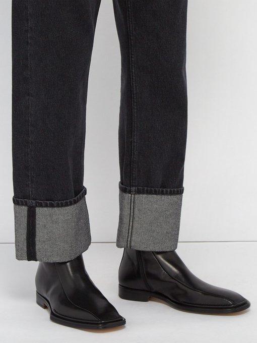 b308e712e46 Medusa embellished leather boots | Versace | MATCHESFASHION.COM UK