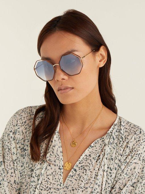 397f2834104 Chloé Poppy hexagon-frame sunglasses. outfit 1254133