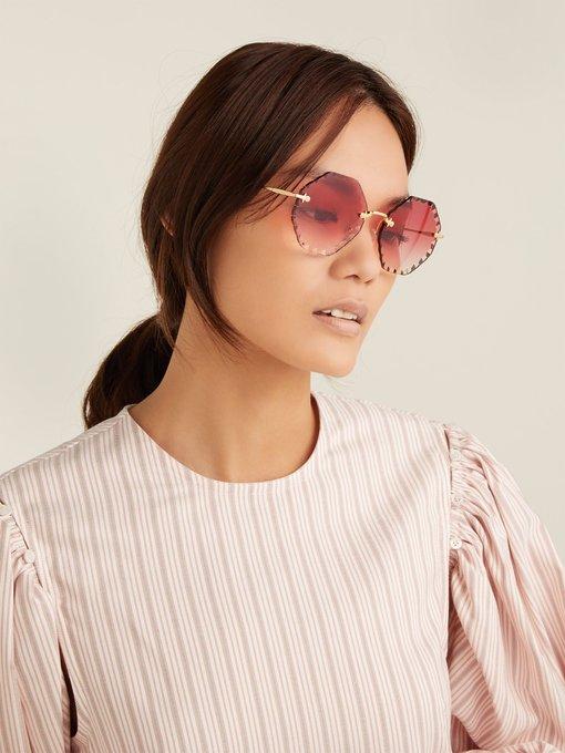 b4a4abc88c Chloé Rosie octagon-frame sunglasses. outfit 1254137